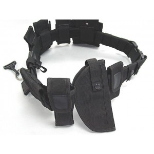 Modular Pouch Holder Police Security Duty Belt w/ Holster #A