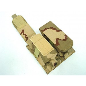 Airsoft Molle Double Magazine Pouch Desert Camo