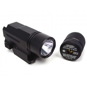 Tactical Pistol CREE LED Flashlight & Red Laser Combo Set