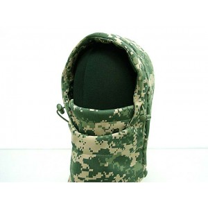 Balaclava Fleece Hood Full Face Head Mask Digital ACU Camo
