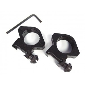 "1""/25mm Low QD Scope/Flashlight Ring Mount 20mm Rail"