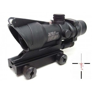 ACOG Type 4x32 Red Illuminated Cross Sight Scope w/ Dummy Fiber