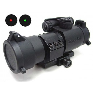 Comp M3 Type Red Green Dot Sight Scope w/QD L-Shape Mount