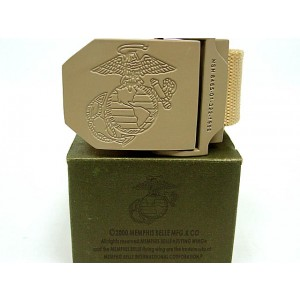 US Marine CORP USMC Army Tactical BDU Duty Belt Tan
