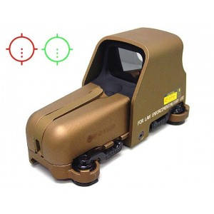 Holographic Tactical 553 Type Red/Green Reflex Dot Sight Tan