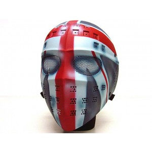 Full Face Hockey Type Airsoft Mesh Goggle Mask UK Flag