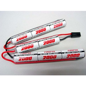 Firefox 9.6V 2000mAh Ni-MH Airsoft Crane Stock Battery
