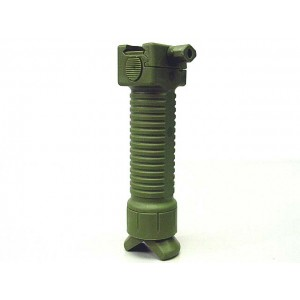 RIS Picattinny 20mm Rail Tactical Foregrip Grip w/Bipod OD
