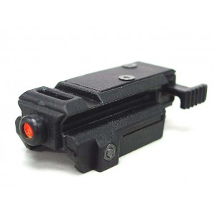 Tactical Pistol Under Rail Flashlight Mount Pulse Red Laser BK