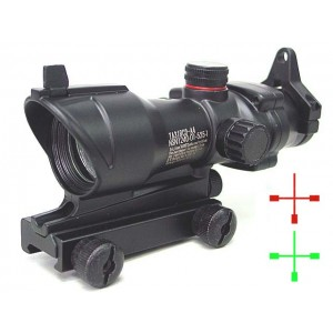 ACOG Type 1x30 Red/Green Cross Sight Scope w/QD Suitable For Any 11 & 20mm Mount