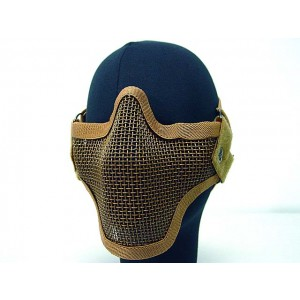 Black Bear Airsoft Stalker Style Shadow Mesh Mask Brown