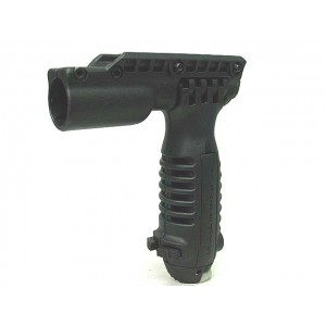 Tactical RIS Total Bipod Flashlight Holder Foregrip Grip Black