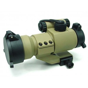 Comp M2 Type Red Green Dot Sight Scope w/Cantilever Mount Tan