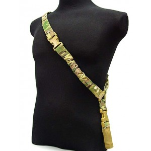 TMC Elastic Bungee CQB Single Point Rifle Sling Multi Camo