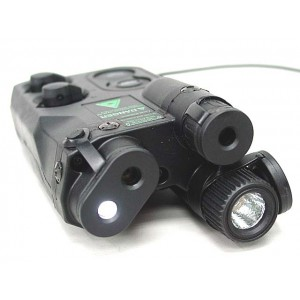 AN/PEQ-16 with Red/Green Laser & Dual LED Illuminator Black