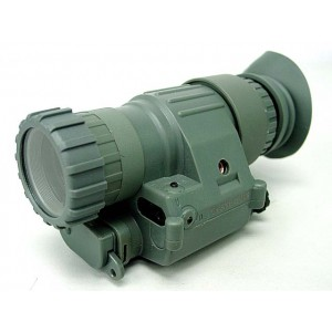 PVS-14 NVG Style 3x Magnifier Scope with Red Laser ACU