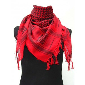 US Army Arab SAS Shemagh Kafiya Scarf Mask Red