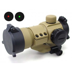 Comp M3 Type Red Green Dot Sight Scope w/Cantilever Mount Tan