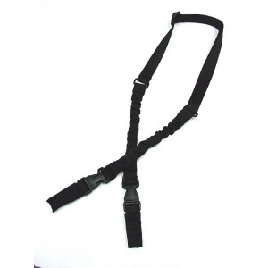 Heavy Duty 2-Point Bungee Tactical Rifle Sling Black