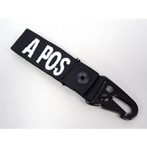 A POS Blood Type Identification Strap Black