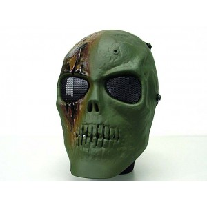 Army of Two Skull Full Face Airsoft Protector Mask OD