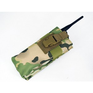 Molle Large Radio/Walkie Talkie Pouch Multi Camo