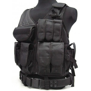 Airsoft Tactical Hunting Combat Vest Black