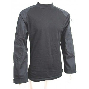 Tactical Long Sleeve Combat Shirt Black