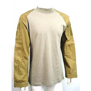 Tactical Long Sleeve Combat Shirt Tan
