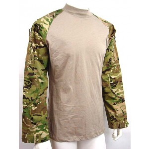 Tactical Long Sleeve Combat Shirt Multi Camo