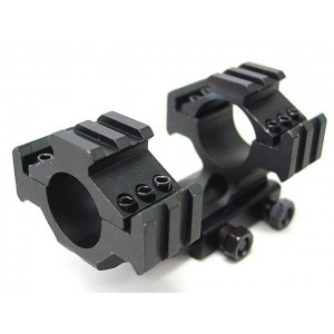 "Rambo 1""/25mm Tri-Rail QD Scope Dual Ring Mount 20mm RIS Rail"