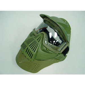 Full Face Airsoft Goggle Lens Mask w/Neck Protect OD