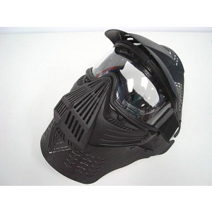 Full Face Airsoft Goggle Lens Mask w/Neck Protect BK