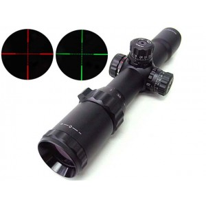 1-4x28 Red/Green Illuminated Long Eye Relief CQB Rifle Scope