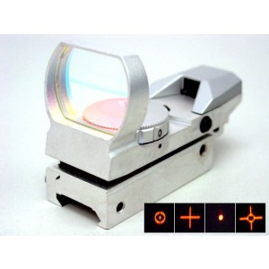 Holographic Multi 4 Reticle Red Dot Sight Reflex Silver