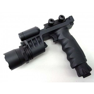 Tactical LED Weapon Light Foregrip Flashlight with Red Laser