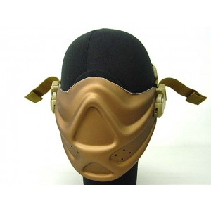 Light Weight Neoprene Hard Foam Half Face Mask Gold