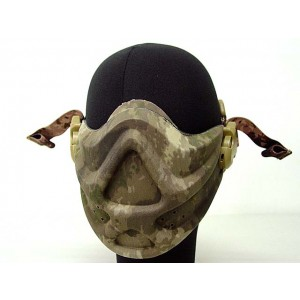 Light Weight Neoprene Hard Foam Half Face Mask A-TACS Camo