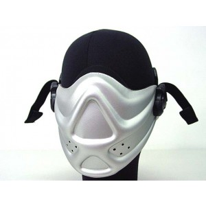Light Weight Neoprene Hard Foam Half Face Mask Silver