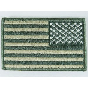 US United States USA Reverse Flag Velcro Patch ACU