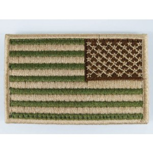 US United States USA Reverse Flag Velcro Patch Multi Camo