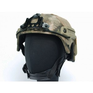 IBH Helmet with NVG Mount & Side Rail A-TACS Camo