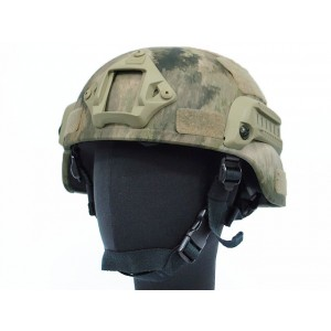 MICH TC-2000 ACH Helmet with NVG Mount & Side Rail A-TACS Camo
