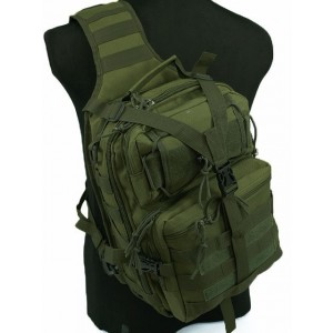 Tactical Utility Gear Sling Bag Backpack OD L