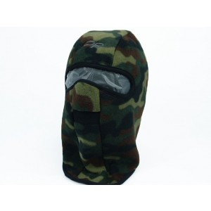 Balaclava Hood 1 Hole Head Face Fleece Mask Camo Woodland