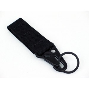 Army Force Single Point Key Chain Type A Black