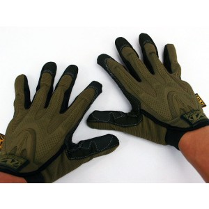 Full Finger Airsoft M-Pact Style Gloves Ver.2 Coyote Brown