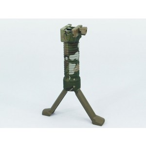 RIS Picattinny 20mm Rail Foregrip Grip w/Bipod Multi Camo