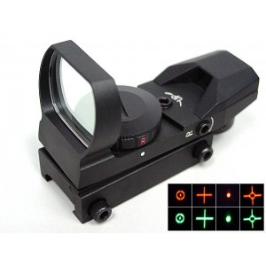 Multi 4 Reticle Red/Green Dot Sight Reflex Black