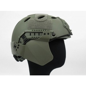 Up-Armor Side Cover for Fast Helmet Rail ACU